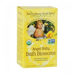 angel baby bath blossoms