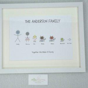 button family frame