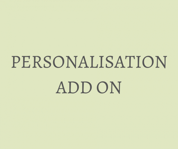 Personalisation Add on