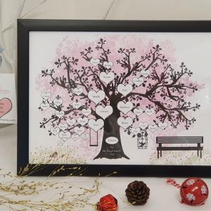 family tree black frame
